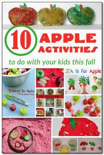 10 Apple Activities #preschool #fall