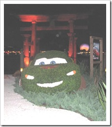 Florida vacation Epcot topiary Cars