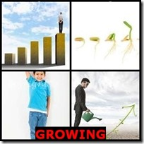GROWING- 4 Pics 1 Word Answers 3 Letters