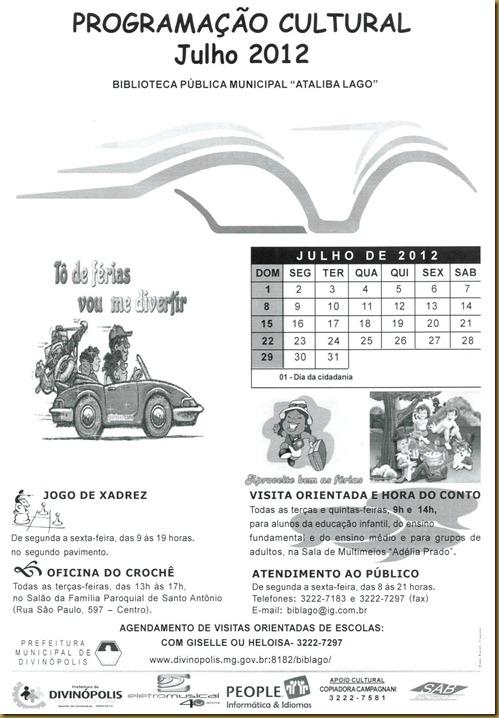 Agenda Julho