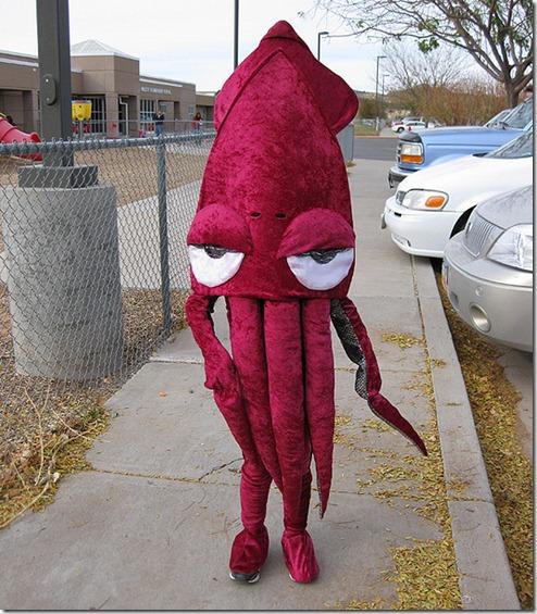 4 disfraz de calamar