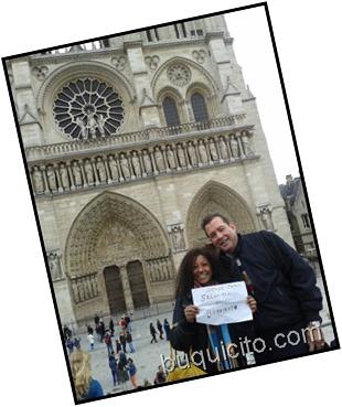 Saludito desde Paris Ada Coronado y Manuel Martín de MOya