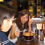 fumie enjoying some late night ramen in Tokyo, Tokyo, Japan