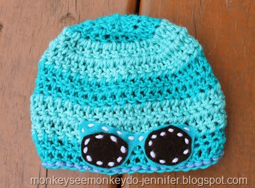 sunglasses crocheted hat