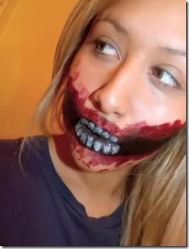 zombie dientes fuera