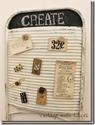 Upcycled Washboard - Vintage with Laces