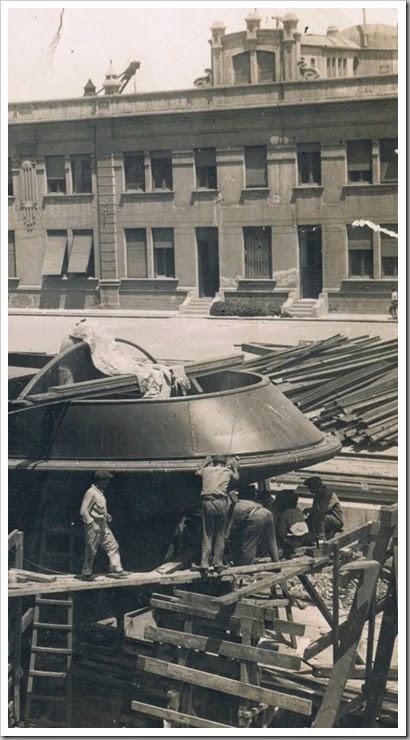 Astilleros en el puerto de Valencia. 1935