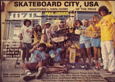 Dogtown can say what they want about this board or that board but most of them rode our boards, as you see a couple of boards in this photo