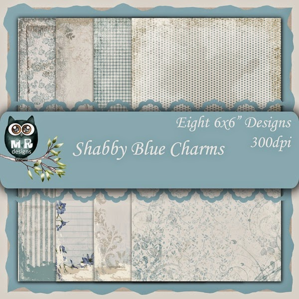 Shabby Blue Charms Front Sheet
