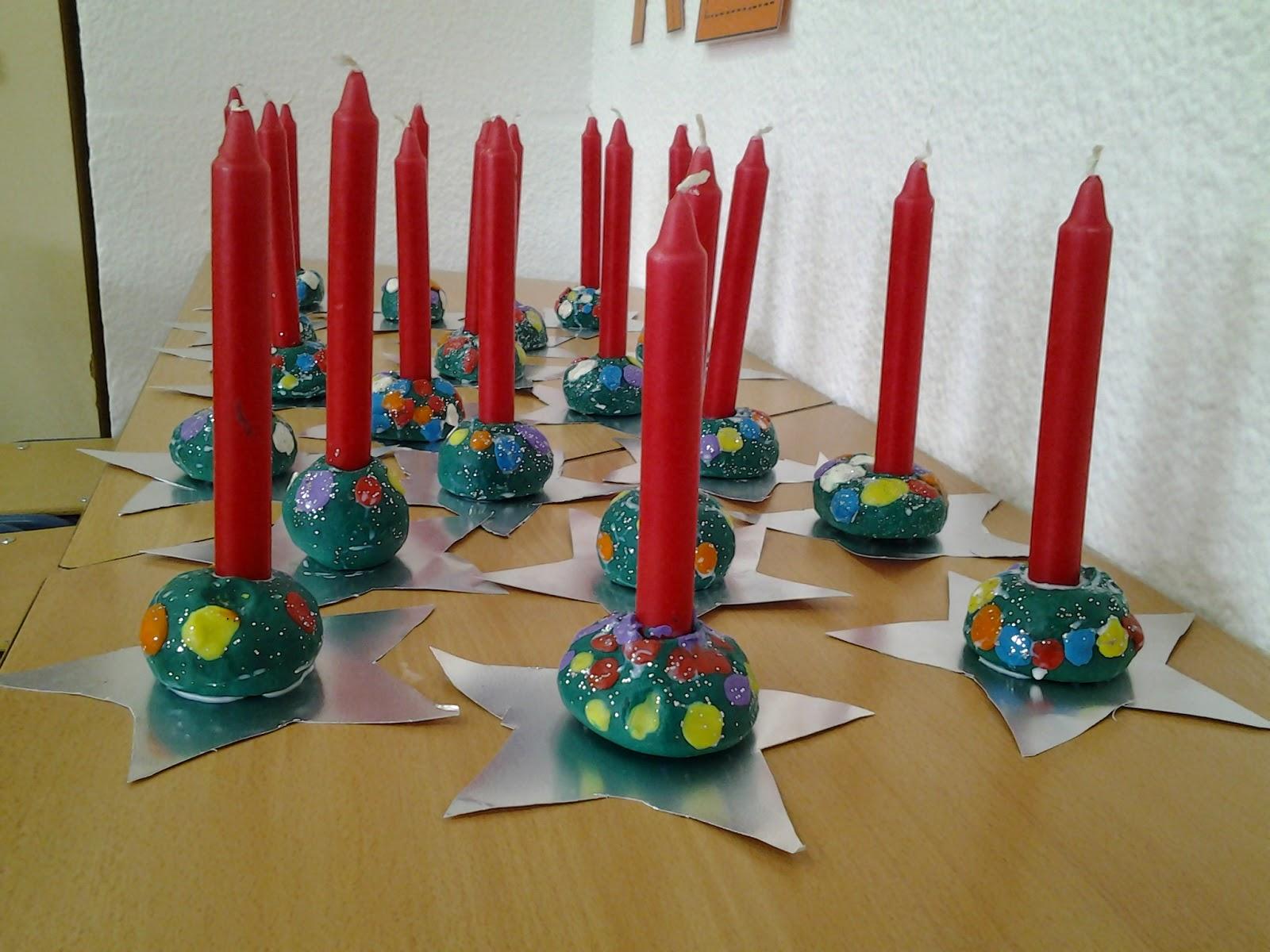 Creciendo juntos taller de navidad 1 portavelas - Decoracion navidad para ninos ...