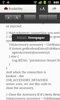 Screenshot of Readability Bookmarklet