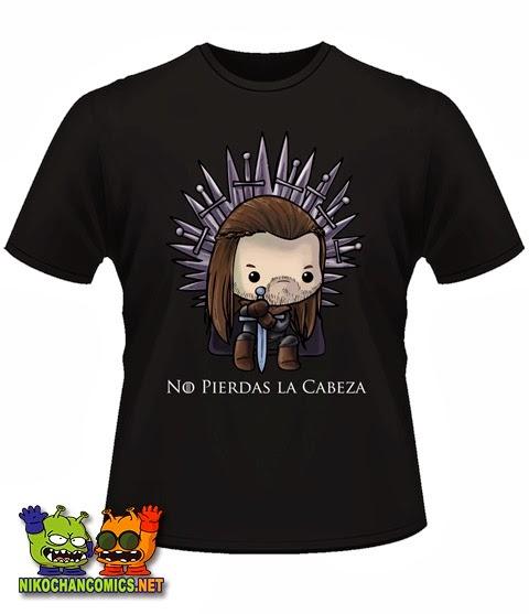 Camiseta divertida de Ned Stark - No Pierdas la Cabeza