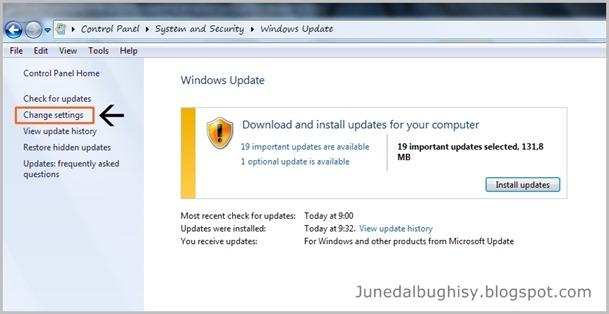 Cara Mengatur Schedule atau Jadwal Windows Update Pada Windows 7 01