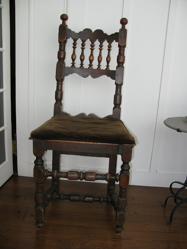 Here is a photo of Martha's own early 17th century chair.
