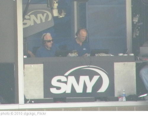 'Ralph Kiner and Gary Cohen in the SNY Booth' photo (c) 2010, slgckgc - license: http://creativecommons.org/licenses/by/2.0/