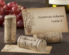 Maison du Vin Wine Cork Place CardPhoto Holder (Set of 4)