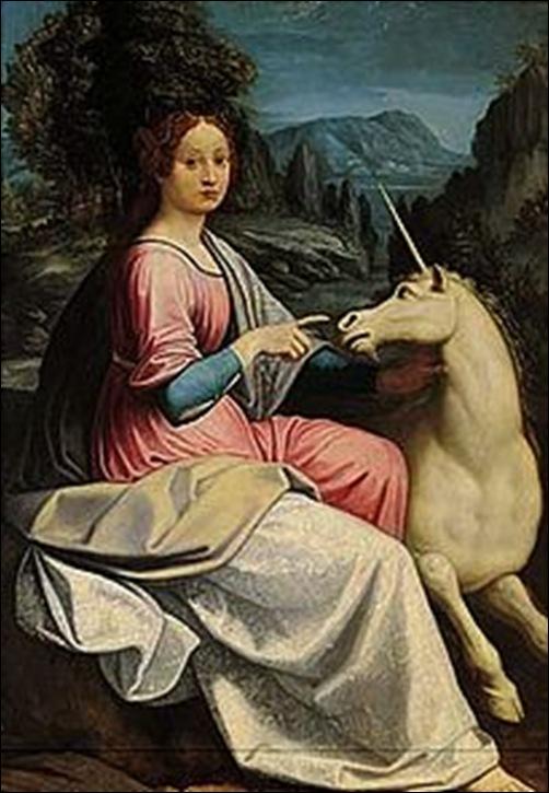 Luca Longhi, La dame à la licorne