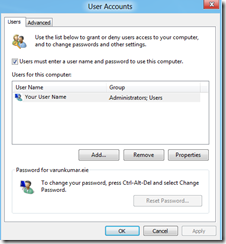 Make Windows 8 PC Automatically Logon to Your Use Account 2
