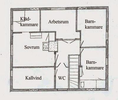 Planlösning övervåning, efter ombyggnad