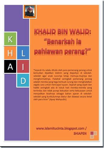 Khalid bin Walid penjahat perang