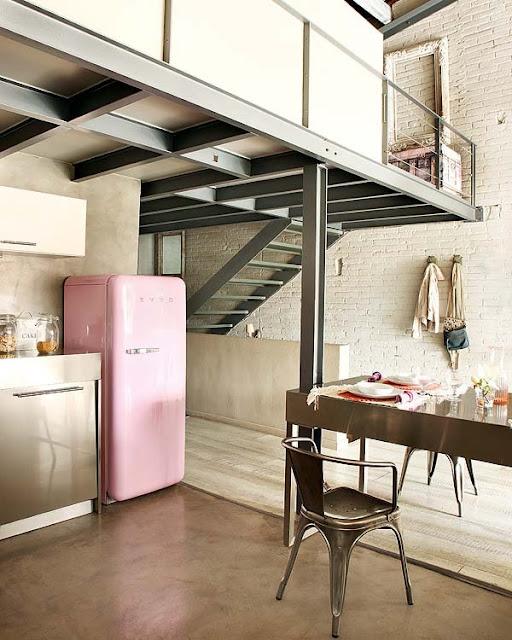 print&home decor: Un fantástico loft en barcelona