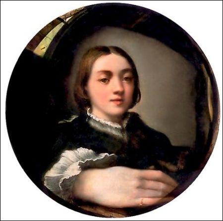 Le Parmesan, Autoportrait