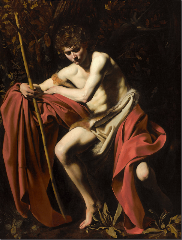 Michelangelo Merisi, called Caravaggio. Saint John the Baptist in the Wilderness 1604 - 1605. 1200 x 1582px