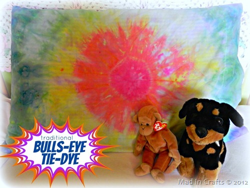 Traditional Bulls Eye Tie Dye Pillowcase
