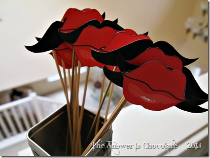 Lips and Mustache Photo Props