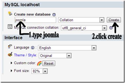 name database joomla