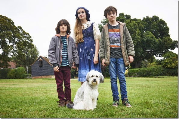 _Malachy Knights, Izzy Meikle, Spike White in PUDSEY THE DOG MOVIE
