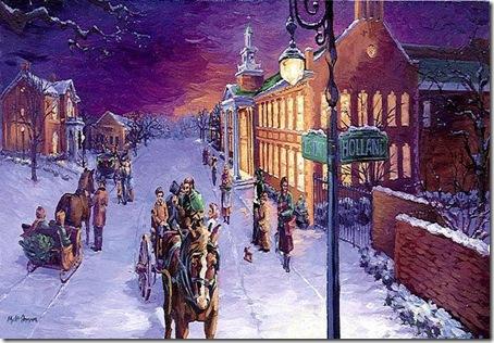 sarbatori de iarna-pictura
