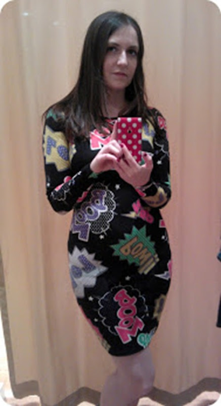 Cartoon print Topshop dress