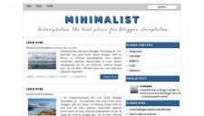 Minimalist blogger template 225x128