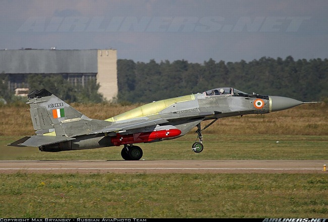 Upgraded MiG-29 aircraft [MiG-29UPG] of the Indian Air Force [IAF] equipped to fire Russian Kh-35U Anti-Ship Cruise missile