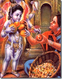 [Krishna with fruit vendor]