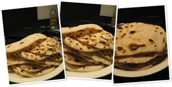 flour tortillas weergegeven