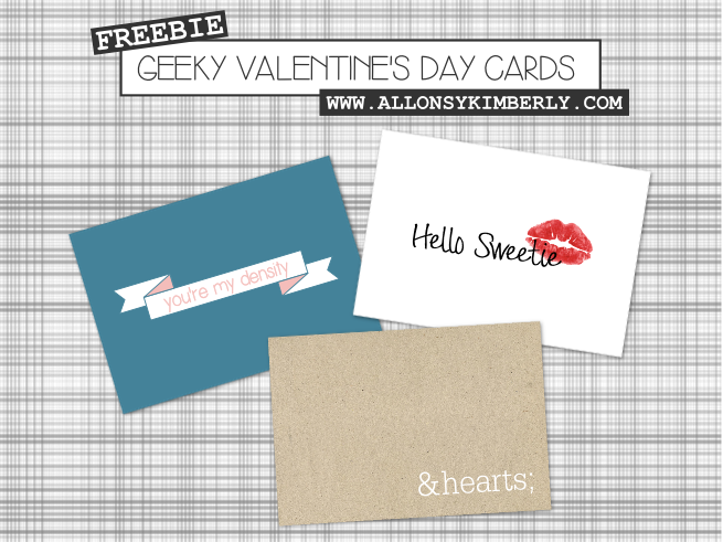 Freebie: Geeky Valentine's Day Cards | allonsykimberly.com
