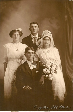 Wedding PR  1914 I think Garage sale