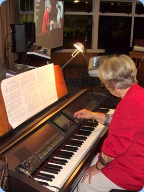 Marlene Forrest played our Clavinova