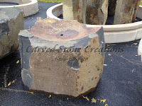 Basalt Bowl Fountain, 36x24. Taller Corners, Bowl 2 Deep.