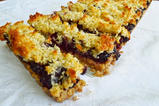 Blackberry Coconut Macaroon Tart , adapted from this recipe