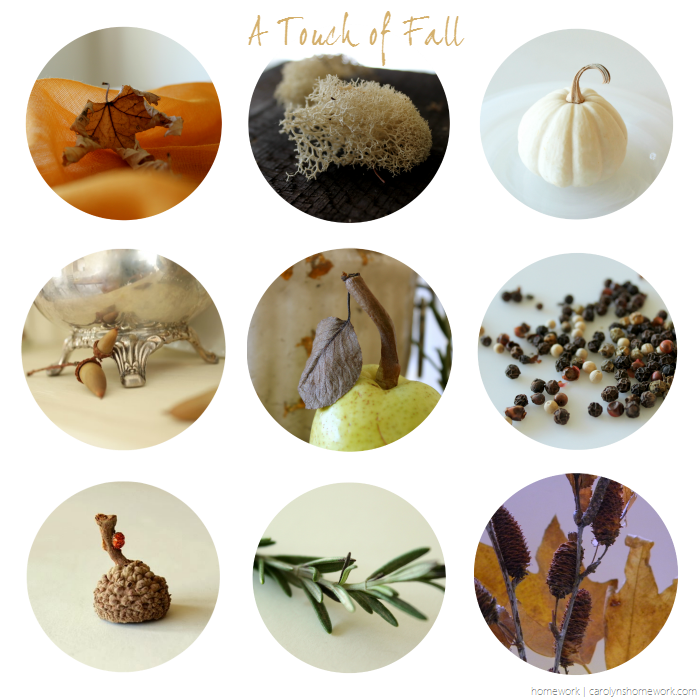 A touch of fall from my home - fall vignettes via homework | carolynshomework.com