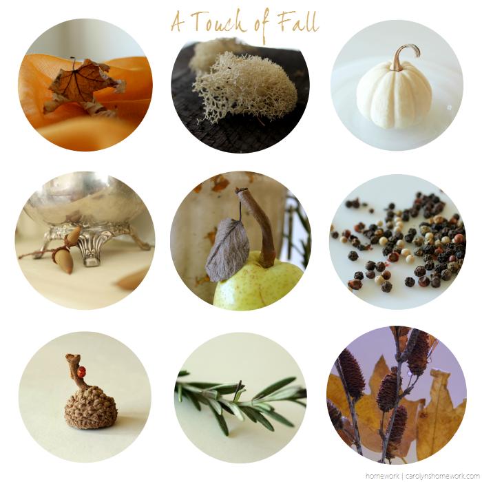 A touch of fall from my home - fall vignettes via homework | carolynshomework.com