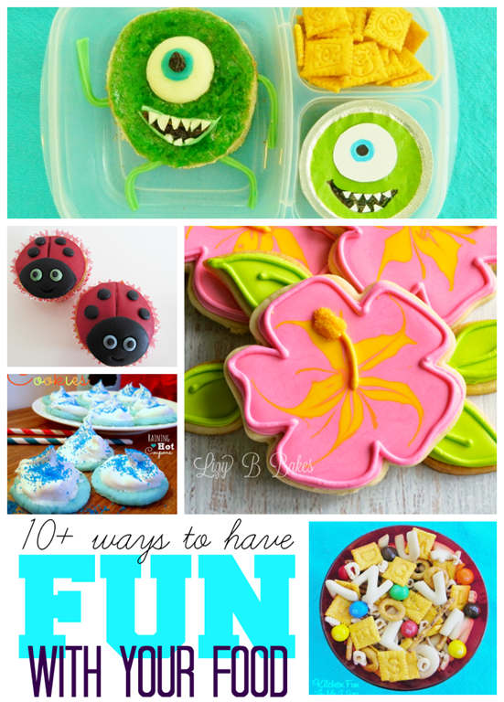 10  Ways to Have Fun with Your Food #linkparty #features #gingersnapcrafts #food