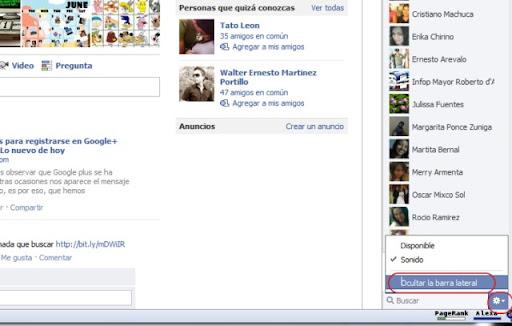 nueva barra del chat de Facebook