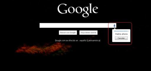 manejar Google con la voz en Chrome