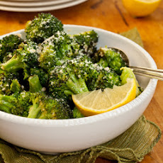 Garlicky Roasted Broccoli with Parmigiano-Reggiano