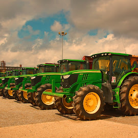 Tractor parade by Ron Olivier - Transportation Other ( tractor parade )