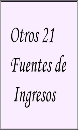 Otros 21 Fuentes de Ingresos